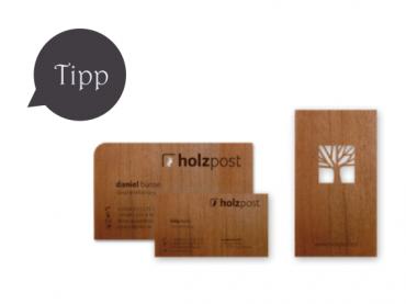 Holzvisitenkarten von Holzpost