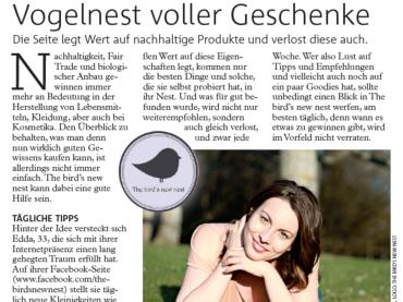 The bird's new nest im Wiener Bezirksblatt