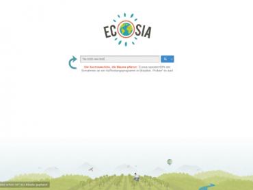 Ökologische Internetsuche mit Ecosia