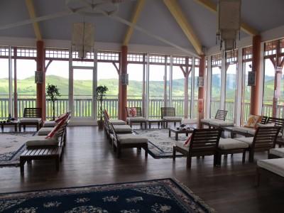 """Der Raum """"Sonnengruß"""" lädt zu Teezeremonien oder einfach nur zum Meditieren ein. Foto: Doris"""