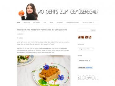Blogvorstellung: Wo geht's zum Gemüseregal? (mit Rezept!)