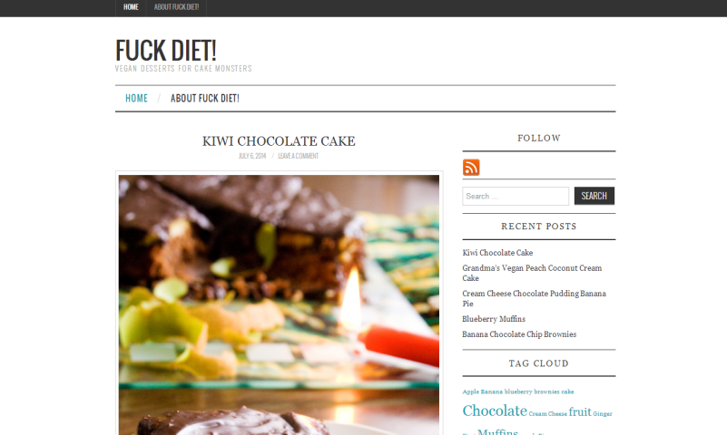 Blogvorstellung: Fuck Diet! Vegan desserts for cake monsters.