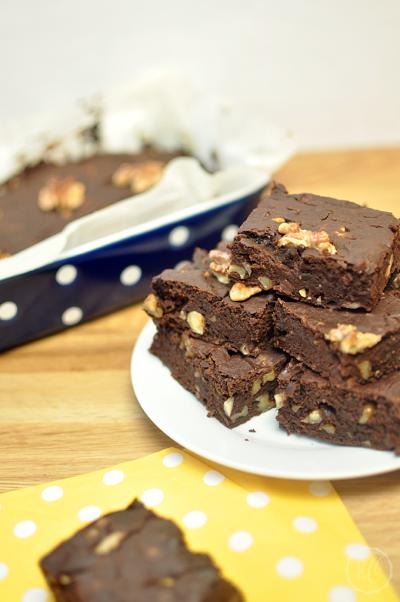 Kürbis Brownies vegan PO