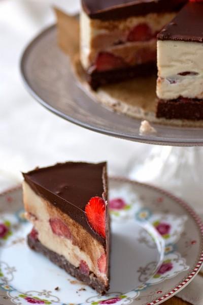 R awrrr Schoko Erdbeer Torte