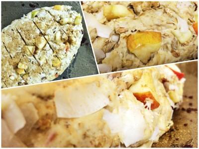Süßes Apfelbrot: der Teig in Form gebracht.
