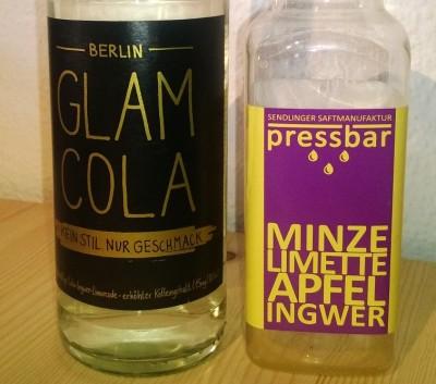 Glam Cola und pressbar Smoothies. Letzterer hat den Heimweg nicht überlebt.