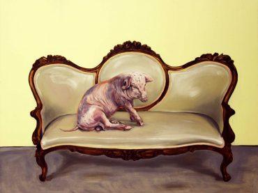 Da sitzt ein Schwein am Sofa! Nachhal(l)tige Kunst von Hartmut Kiewert