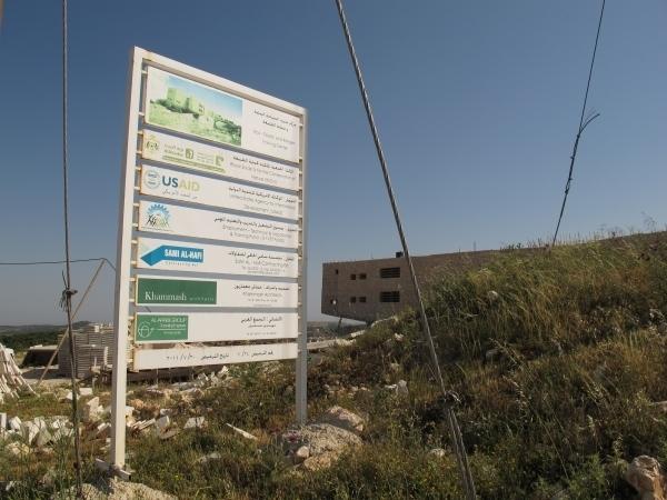 In Ajloun wird gerade ein ökologisches Gebäude für Trainings errichtet. Foto: Doris