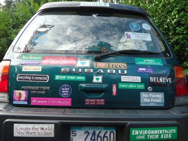 Autos sind grün? Das hier sicher! Foto:Doris