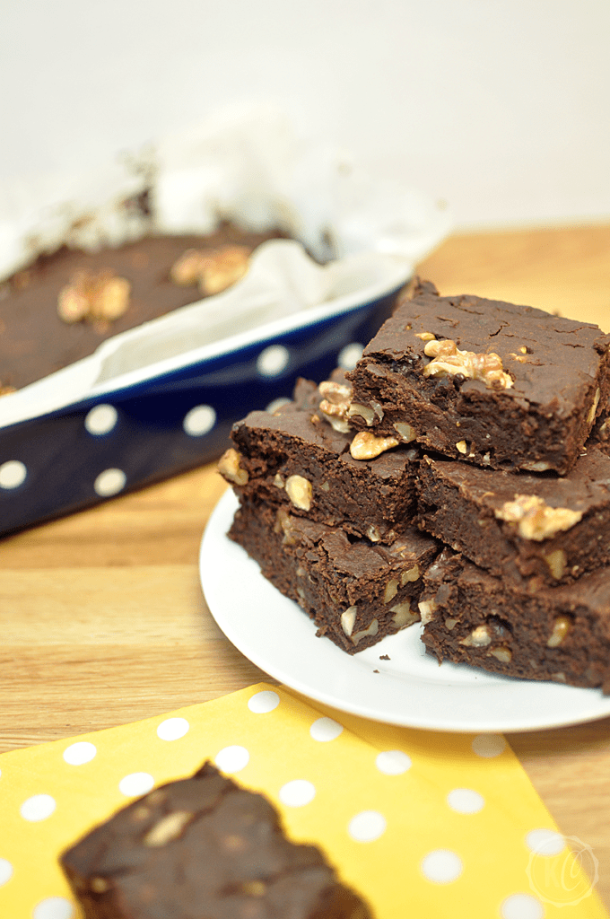 Kürbis Brownies vegan PO